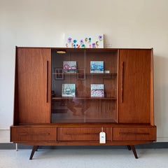 Mid-Century Modern Teak Credenza Or Highboard