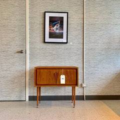 Compact Mid-Century Modern Teak Entry Cabinet
