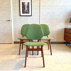 Mid-Century Modern Teak Shield Back Dining Chairs