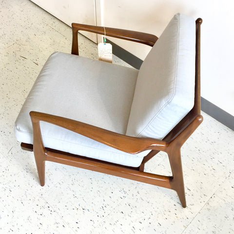 Mid-Century Modern Walnut Armchair By Ib Kofod Larsen for Selig