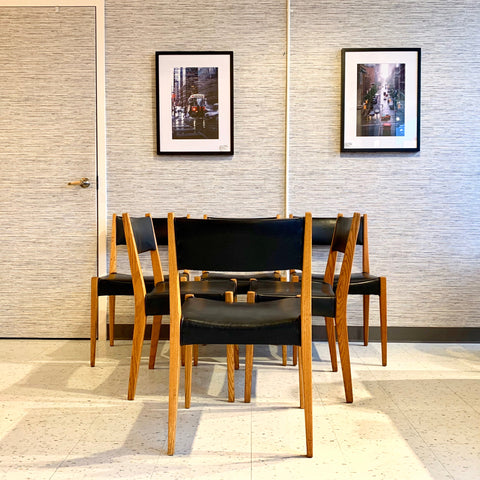 Mid-Century Modern White Oak Dining Chairs By Svegards Markaryds