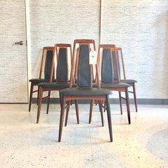 Mid-Century Rosewood Dining Chairs By Niels Koefoed Model Eva
