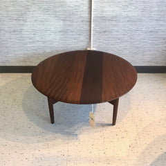 Mid-Century Round Coffee Table In Solid African Teak By Imperial