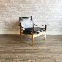 Mid-Century Safari Chair by Hans Olsen for Viskadalens Möbler