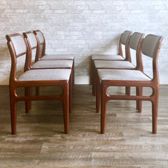 Mid-Century Solid Rosewood Dining Chairs By Johannes Andersen