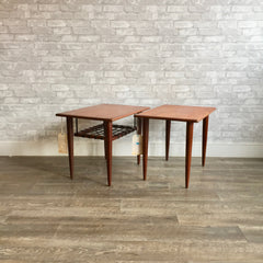 Mid-Century Teak And Rosewood Accent Tables