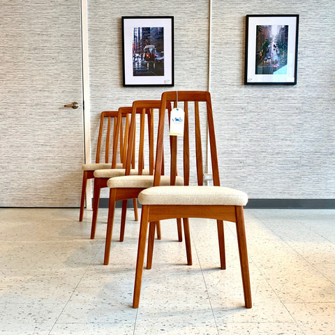 Mid-Century Teak Dining Chairs By Benny Linden