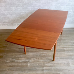 Mid-Century Teak Dining Table with Drop Leaves By Borge Mogensen For FDB