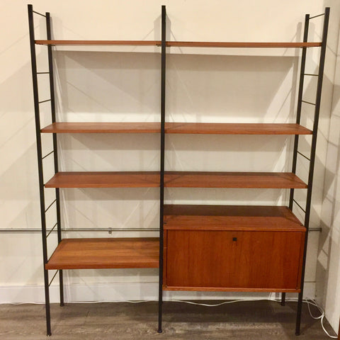 Mid-Century Teak Free Standing Wall Units By Ladderax