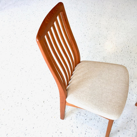 Mid-Century Teak High Back Dining Chairs By Benny Linden