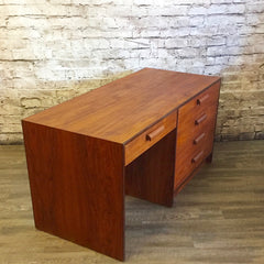 Mid-Century Teak and Rosewood Partners Desk