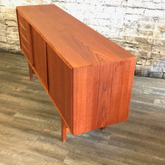 Compact Danish Teak Sideboard by EW Bach for Sejling Skabe