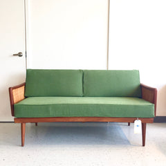 Mid-Century Teak Sofa Daybed By Hvidt & Mølgaard-Nielsen With Cane Arms