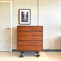 Mid-Century Teak Tall Dresser Or Chest By Punch Designs