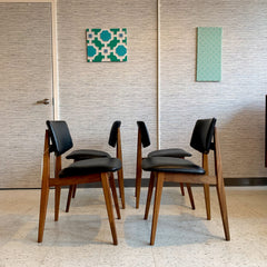 Mid Century African Teak Dining Chairs by Jan Kuypers for Imperial
