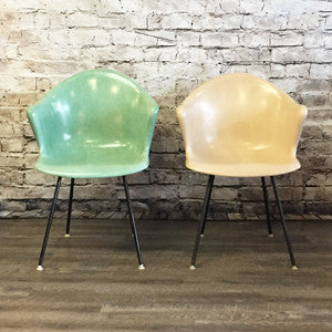 Mid Century Fiberglass Armchairs by Cole Steel