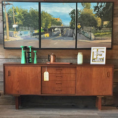 Gorgeous Mid-Century Modern Teak and Oak Sideboard
