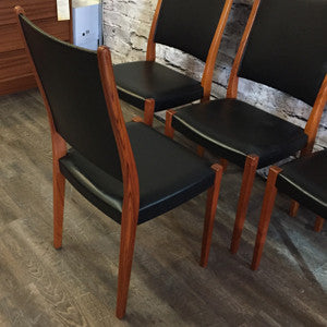 Mid-Century Modern teak dining chairs by Svegards Markaryds - Vintage Home Boutique - 5