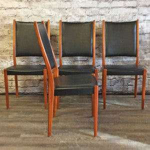 Mid-Century Modern teak dining chairs by Svegards Markaryds - Vintage Home Boutique - 3