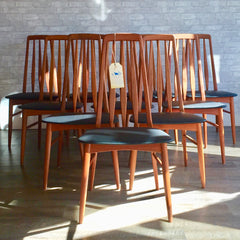 Mid-Century Teak Dining Chairs Model Eva By Niels Koefoed