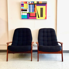Mid Century Teak Scoop Armchairs By R Huber