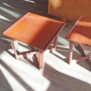 Mid Century Teak Side Tables - Vintage Home Boutique - 2