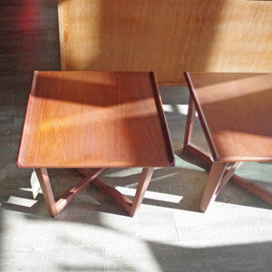 Mid Century Teak Side Tables - Vintage Home Boutique - 3