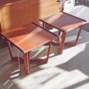 Mid Century Teak Side Tables - Vintage Home Boutique - 4
