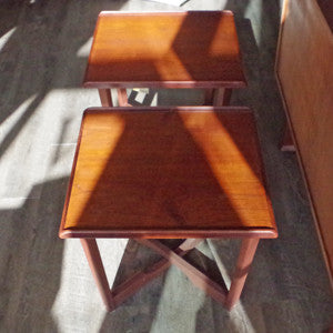 Mid Century Teak Side Tables - Vintage Home Boutique - 5