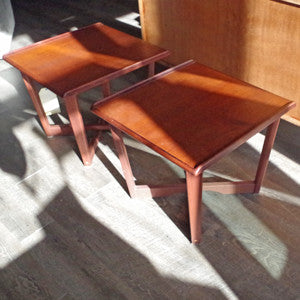 Mid Century Teak Side Tables - Vintage Home Boutique - 7