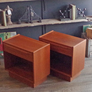 Mid Century Swedish Teak Side Tables - Vintage Home Boutique - 4