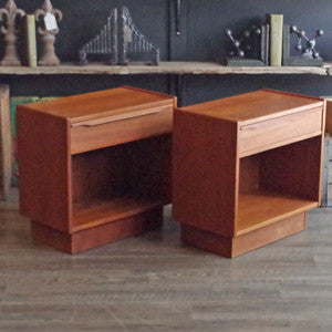 Mid Century Swedish Teak Side Tables - Vintage Home Boutique - 3