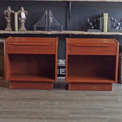 Mid Century Swedish Teak Side Tables - Vintage Home Boutique - 1