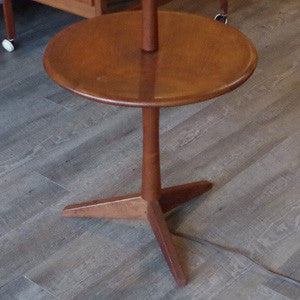 Mid Century Teak Floor Lamp with Table - Vintage Home Boutique - 4