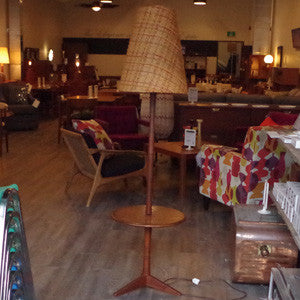 Mid Century Teak Floor Lamp with Table - Vintage Home Boutique - 5