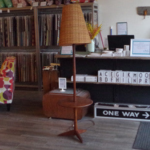 Mid Century Teak Floor Lamp with Table - Vintage Home Boutique - 6