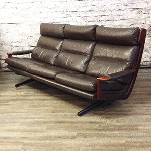 Australian Mid Century Teak and Leather Sofa by Fred Lowen - Vintage Home Boutique - 4