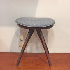 Mid-Century Walnut Stool or Ottoman by Honderich