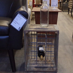 Vintage Wood and Metal Milk Crates Side Tables - Vintage Home Boutique - 1