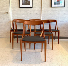 Model 16 Mid-Century Teak Dining Chairs By Johannes Andersen