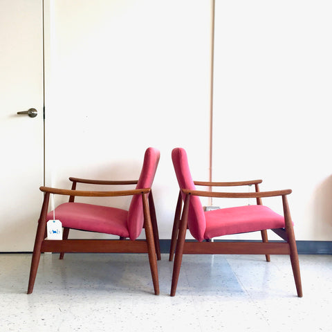 Model 138 Mid-Century Teak Armchairs By Finn Juhl For France And Son
