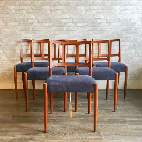Model 83 Danish Modern Teak Dining Chairs By Niels Moller