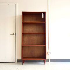 Narrow Mid-Century Danish Teak Bookcase.