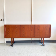 Narrow Mid-Century Teak Sideboard or Media Cabinet