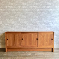 New Old Stock Mid-Century Danish Teak Sideboard By Clausen & Son