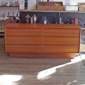 New Old Stock Danish Mid Century Teak 6 Drawer Dressers - Vintage Home Boutique - 5