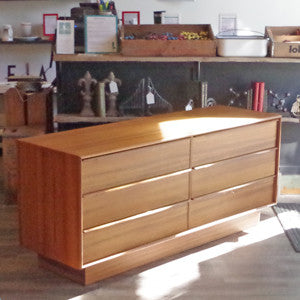 New Old Stock Danish Mid Century Teak 6 Drawer Dressers - Vintage Home Boutique - 2