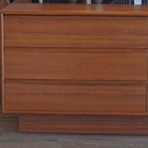 New Old Stock Danish Mid Century Teak 6 Drawer Dressers - Vintage Home Boutique - 6