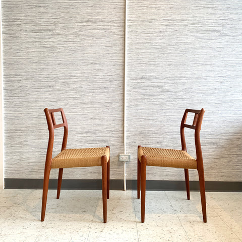 Niels Moller Model 79 Dining Chairs With Danish Cord