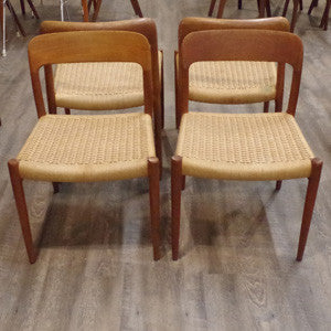 Niels Moller Model 75 Dining Chairs - Vintage Home Boutique - 3